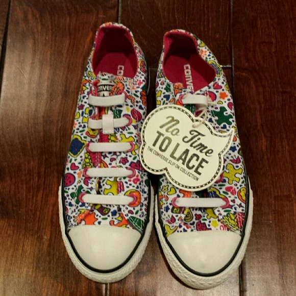 d841921f223d08 Girls Converse All Star No Time To Lace Shoes