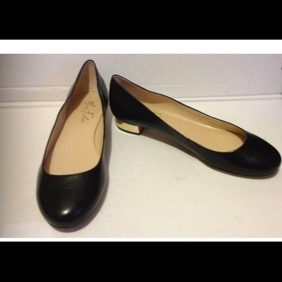 Leather Marc Fisher Gold Heel Flats