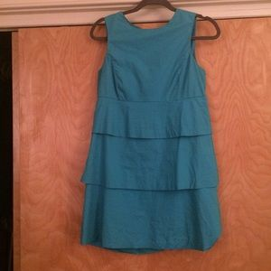 Blue Zara tiered dress