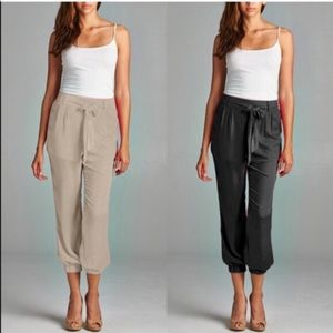 The STACEY chiffon pants - NEON CORAL