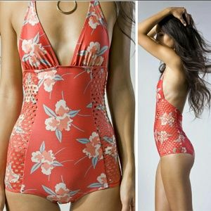 New beach riot espanola onepiece coral gables suit