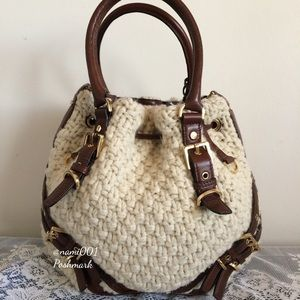 31250045c58f Michael Kors Milo Wool Knit Purse & Crossbody EUC