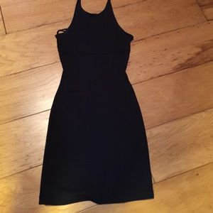Black halter dress or tunic, guess brand! Cute!