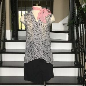 H&M SHEER ANIMAL PRINT BLOUSE