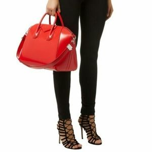 Givenchy Medium Antigona in Smooth Red Leather