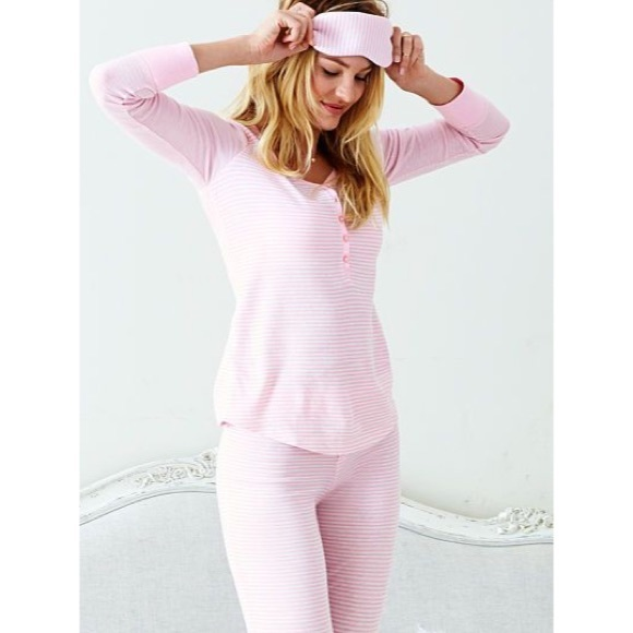 9b03ae7fcb Victoria s Secret Long Jane Cotton Pajamas. M 560968eec284562bc6000dea
