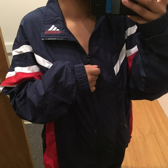Adidas Jackets Coats Firm True Vintage Jacket Red White Blue