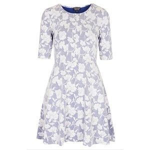 Topshop Dresses & Skirts - Topshop Floral Jacquard Skater Dress