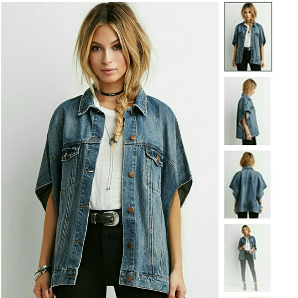 bf56c91aa1d Forever 21 Jackets   Blazers - Denim poncho