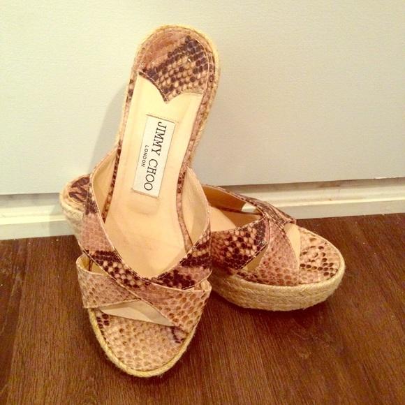 671f41bbb79 Jimmy Choo Shoes - Jimmy Choo Phyllis Wedge Sandal Snakeskin