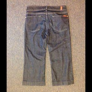 7 for all Mankind Crop Dojo Jeans 27
