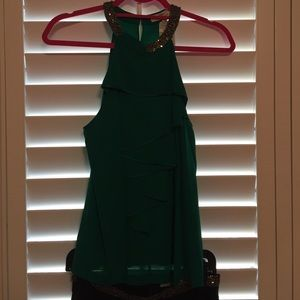 Robert Rodriguez green top NWT