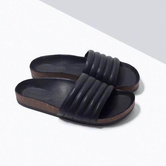 Zara Shoes | Zara Quilted Slides | Poshmark