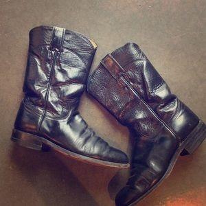 Vintage Justin black boots