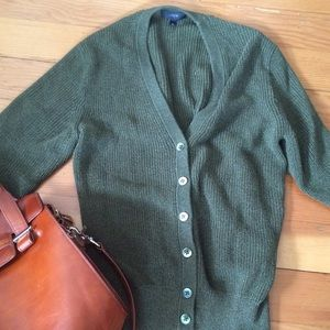 J.Crew olive knit cardigan as NEW