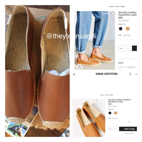a16eba796253 HP🎉Urban Outfitters Soludos Leather Espadrilles🍁