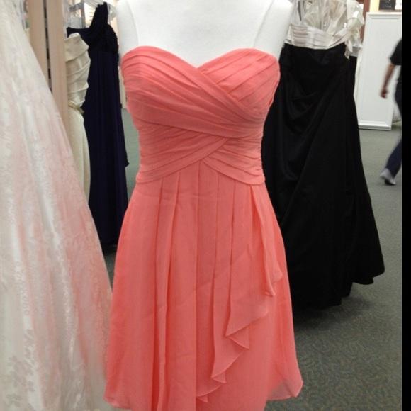 c0971ad0c92 David s Bridal Dresses   Skirts - Size 6 David s bridal bridesmaid dress coral  reef