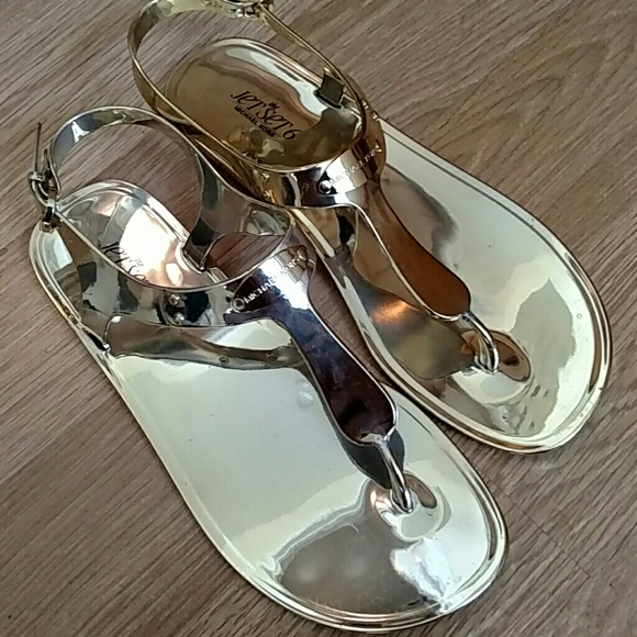 ba408d705010 Michael Kors Jet Set 6 Jelly Sandals in Gold. M 5609ad3a4e6748649f016a8b