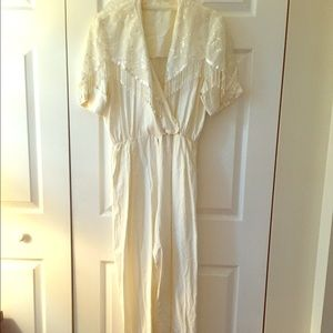 Vintage white jumpsuit/ romper