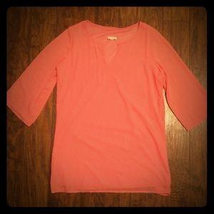 Peach Pink Chiffon Tunic