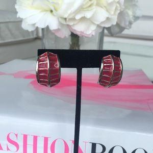 Sienna clip on pink vintage earrings