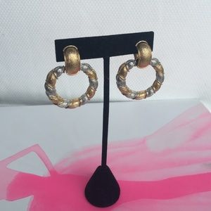 Ciner door knocker clip on earrings