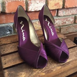 Deep Plum Nina High Heels