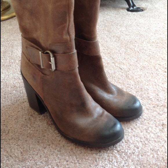 79 fergie shoes fergie brown suede leather antique