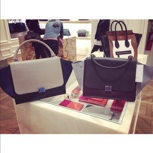 pink celine bag - 22% off Celine Handbags - Celine tricolor calfskin trapeze bag ...