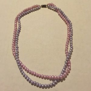 """Jewelry - Dainty pastel pink & blue pearl necklace 16"""""""