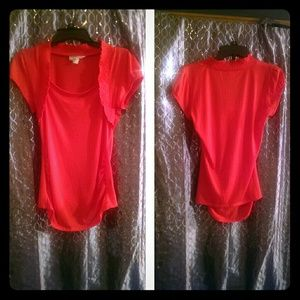 NWOT adorable coral top