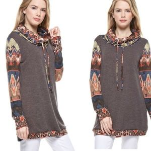 Aztec Print Pullover