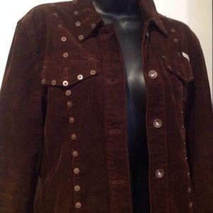 DKNY jeans set brown jacket n skirt