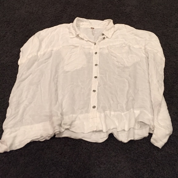 c7067188 Free People Tops - Free People Boxy White Button Up