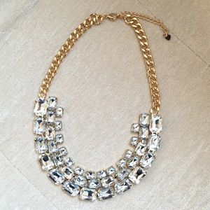 Jewelry - Clear and Gold Statement Necklace