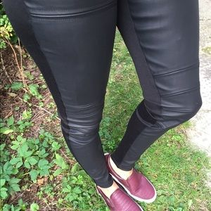 Pants - Faux leather moto pant