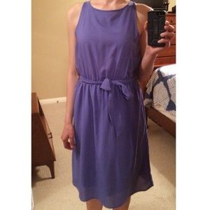 Beautiful Rich-Lavender Sleeveless Midi Dress- SM