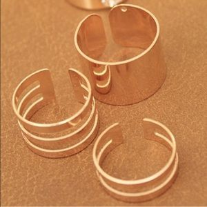 Set of Gold Plated Rings