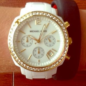 Michael Kors, new white with gold detail watch