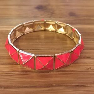 Hot Pink BaubleBar Pyramid Stud Stretch Bracelet