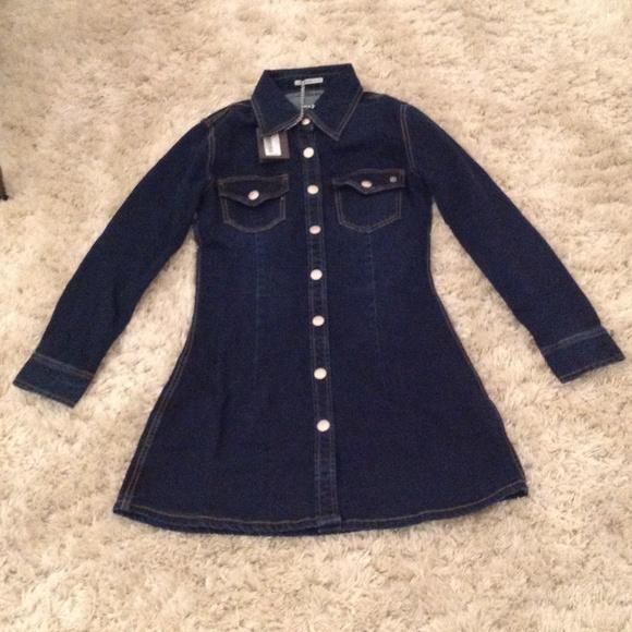 d47c717843 Alexa Chung for AG Pixie Denim Dress NWT Sz Small