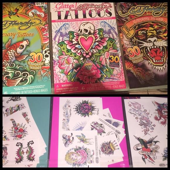 Ed Hardy Other | 3 Packs Of 30 Temporary Tattoos | Poshmark