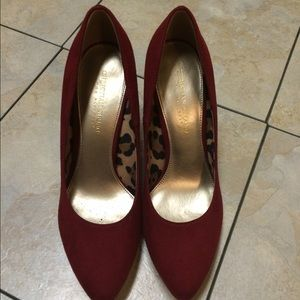 Christian Siriano Shoes - Christian Siriano 8.5 red suede NEVER WORN