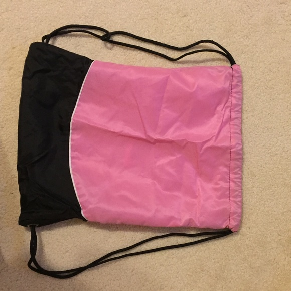 70% off Nike Handbags - NIKE: Pink/ Black Drawstring Bag from ...