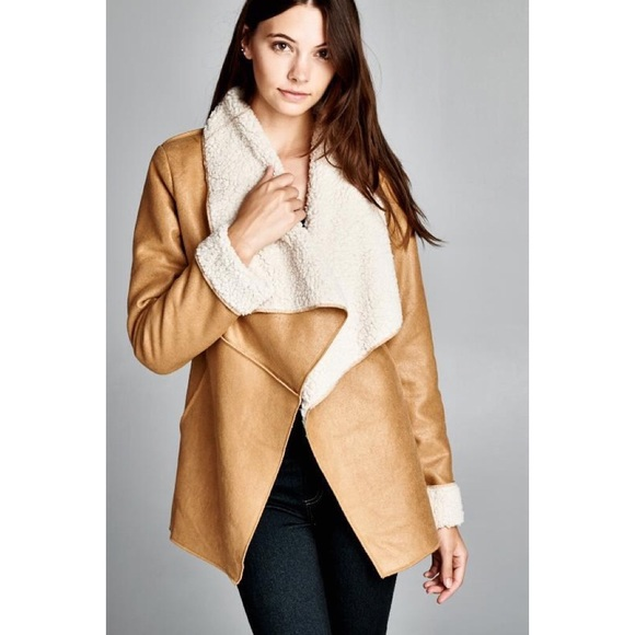 Bare Anthology - &quotMorningstar&quot Faux Suede Shearling Coat Jacket