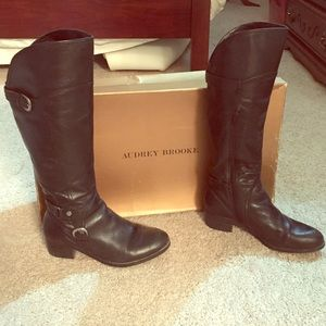 Audrey Brooke Leather Riding Boots