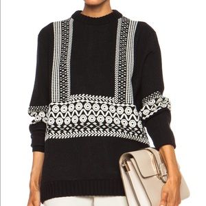 Sweaters - Chloe style Knit Jacquard wool sweater