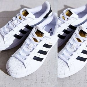 Hvit Adidas Superstar Størrelse 9 iPyG3tC