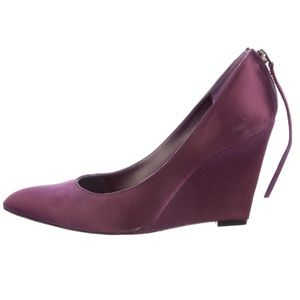 Givenchy Shoes - Givenchy Purple Satin Wedge