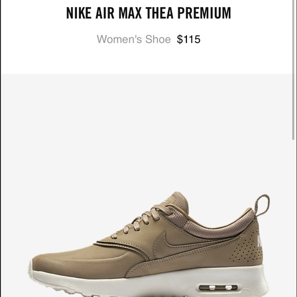 nike air max thea premium leather beige baseball